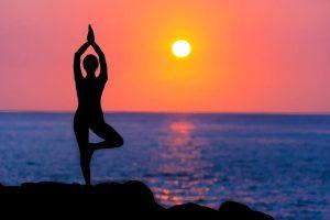 Spiritual stretching (aka Yoga ^^)🧘♀ @ Aegiali Beach